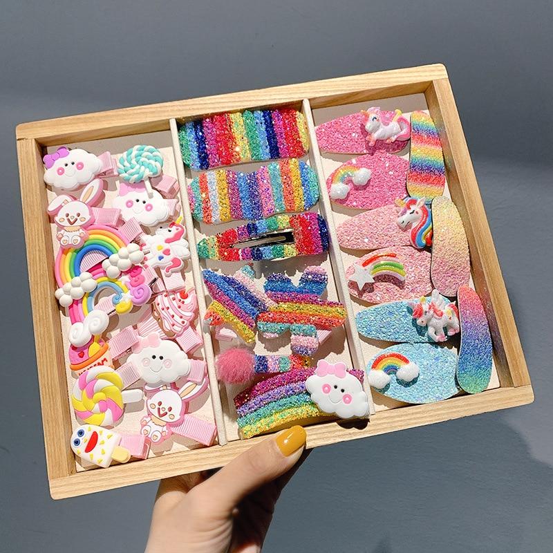 10 unidades/juego de pasadores de pelo de dibujos animados para niña, pasadores de fruta de animales, horquillas para niña, nuevo tocado, accesorios para el cabello