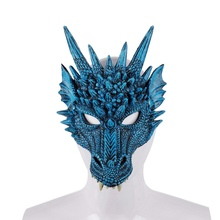 1pc Halloween Horror Cosplay Masquerade Face Mask 4D Dragon Mask Cosplay Costume Christmas Carnival Party Supplies Decor