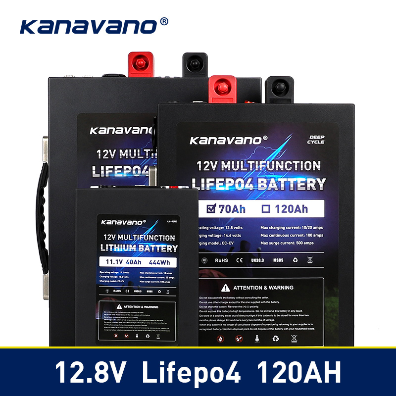 Portable <font><b>12V</b></font> LiFePo4 <font><b>battery</b></font> <font><b>Lithium</b></font> iron phosphate 12.8V 40ah <font><b>70ah</b></font> 120ah <font><b>Battery</b></font> Pack with BMS Board 500A For Inverter Tax Free image