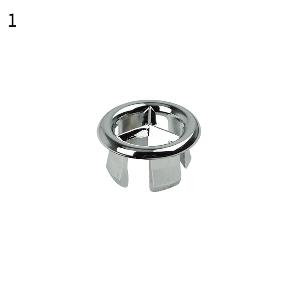 1 шт. ванная раковина кольцо для защиты от переполнения шестифутовая круглая вставка хромированное отверстие крышка - Цвет: 1