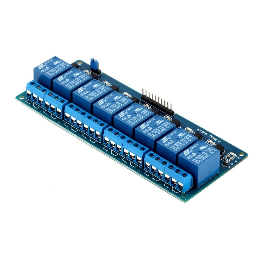 1pcs 5V Eight 8 Channel Relay Module With Optocoupler For Arduino PIC AVR DSP ARM Hot WorldwidePromotion Drop Shipping