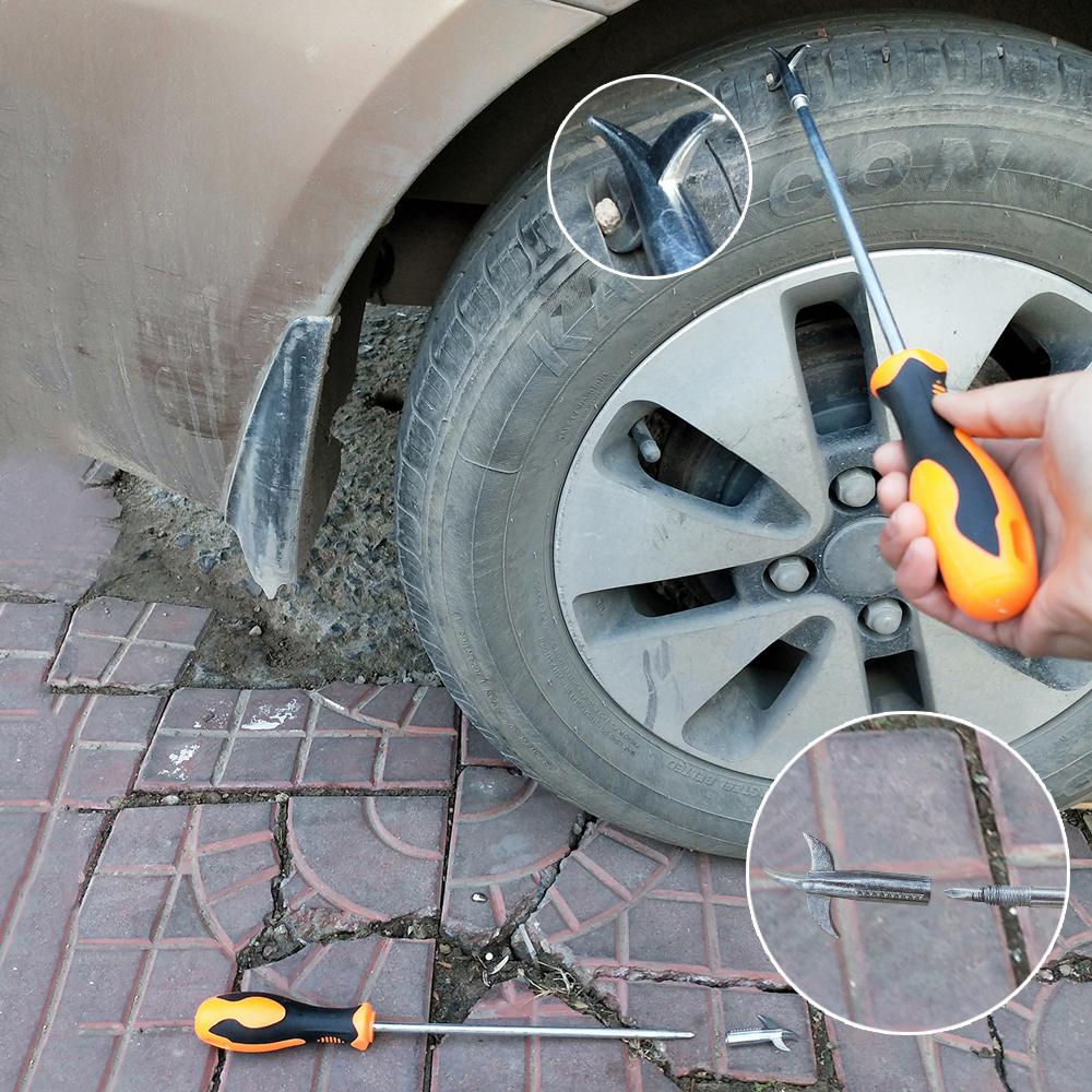 High Quality Car Tire Stone Cleaner Groove Broken Stone Remover Tire Cleaning Hook Tire Cleaning Tool Car-styling