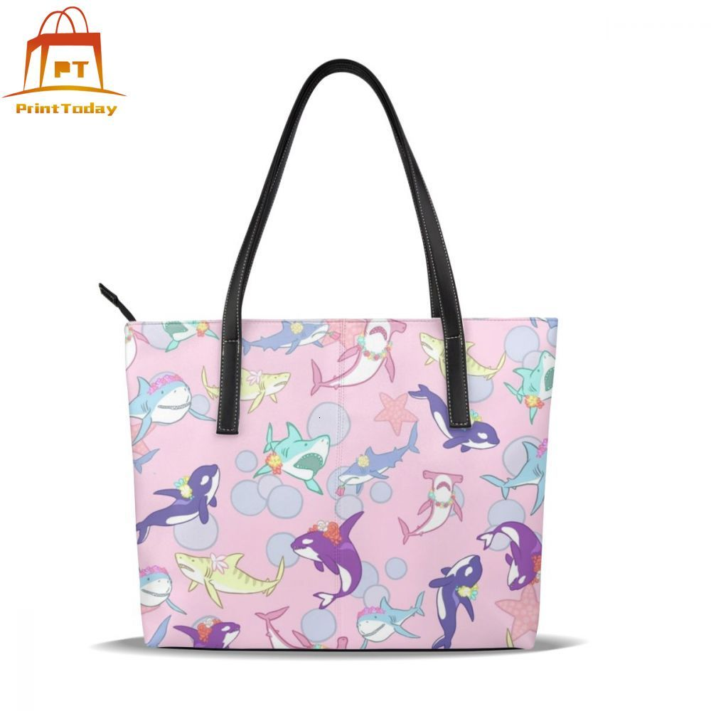 Whale Handbag Whale Top-handle Bags Teen Print Leather Tote Bag Oversized Womens Trendy Women Handbags