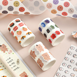 Kawaii Expression Bear Washi Tape Decorative Adhesive Dot Masking Tape Stickers Scrapbooking DIY Stationery Tape School Supplies