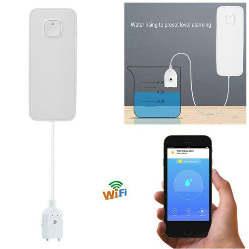 Wireless WiFi Water Leakage Detector Home Security Flood Overflow Alarm APP Notification Sensor LX9A