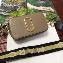 2019 new camera bag wide shoulder strap mixed color stitching small square bag leather ladies handbag double zipper small цены