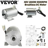 VEVOR-Motor de CC sin escobillas, 48V, 1800W, 4500RPM, Pedal del acelerador, agarre del acelerador, controlador, interruptor de marcha atrás/delantera, llave de encendido