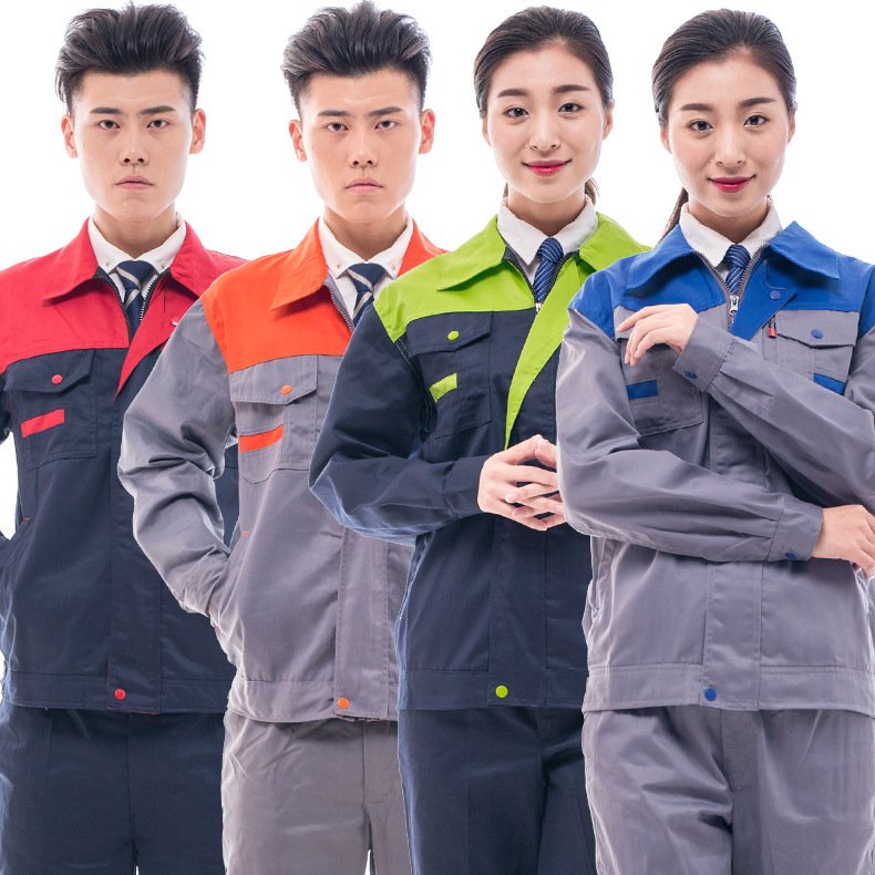 Spring Mixed Colors Long Sleeve Labor Safety Work Suit Men's Electric Welding Work Clothes Auto Repair Service Work Clothes Clot