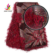 Jacquard Lace Fabric Jacquard Tissu Nigeria High Quality Nigerian Red Brocade Net Lace Tulle Fabric Feathers Materials XZ2960B-6 cheap PGC LACE Embroidered 100 Polyester Mesh Yes( 50 Pcs) 120-130cm Eco-Friendly Brocade Feathers Nigerian Lace Materials Tulle Lace Fabric