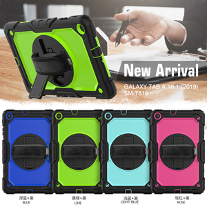 Image 5 - 360 Rotating Case for Samsung Galaxy Tab A 10.1 2019 T510 T515 SM T510 SM 515 Tablet Cover with Hand Shoulder Strap +pen + Film