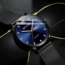 Mens Casual Fashion Luxury Watch Diamond Surface Quartz Luminous Waterproof Calendar For Men