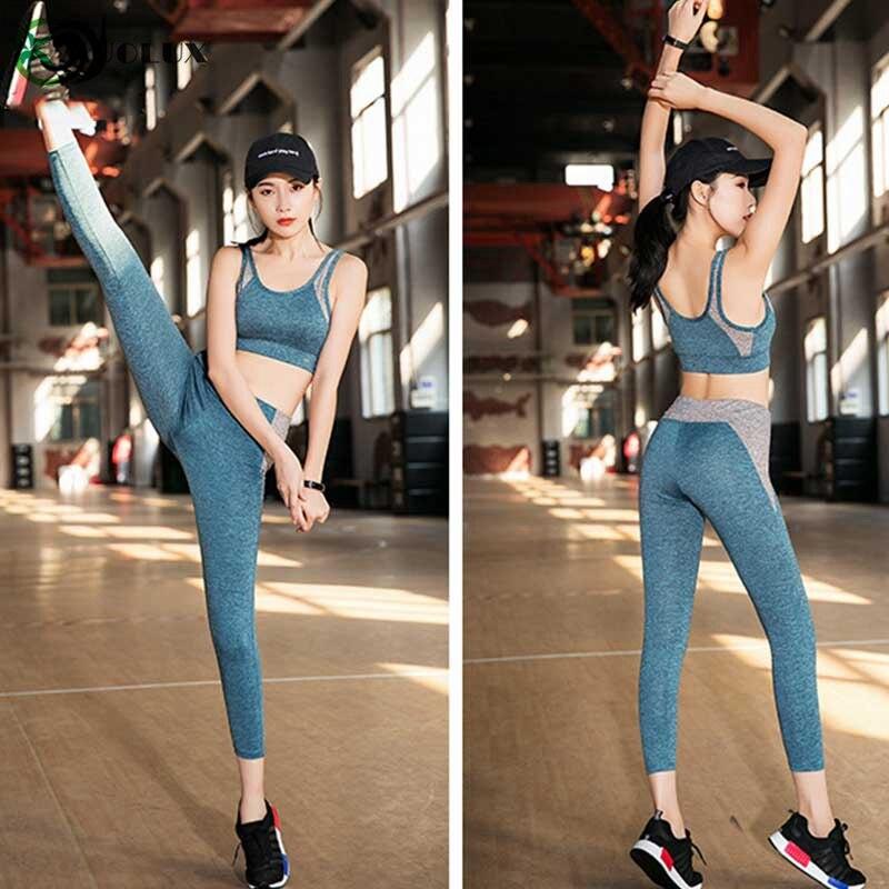 Yoga Sports Running Suit Female Yoga Set Fitness Jogging Gym Sportswear Workout