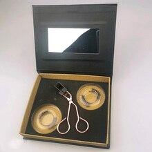 2pairs 3D Mit Pinzette Geschenk Lange Anhaltende Ergonomische Weiche Synthetische Faser Falsche Wimpern Magnetische Wimpern Set Erweiterung Einfache Tragen