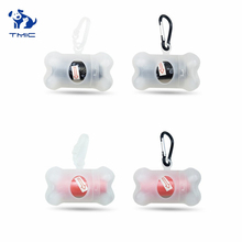 New Style Pet Dog Poop Bag Dispenser Transparent Bone Shape Set Cleaning Supplies Outdoor