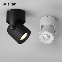 Aisilan LED Ceiling Lamp Spot Light Downlight Surface Mounted COB Background Adjustable 180 Degrees Foyer BedRoom