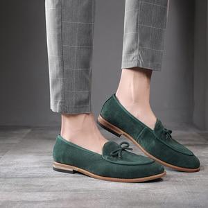 Image 3 - Sapatos de camurça para homens, sapatos de carmurça, slip on, sapatos casuais, festa, casamento, tamanhos grandes 37, 2020 47