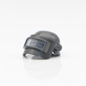 Image 2 - Arme militaire PUBG accessoires pistolet blocs de construction casque Parachute Ghillie costume SWAT soldat brique jouet Compatible armée Legoed