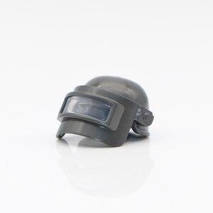 Image 2 - Military Waffe PUBG Zubehör Gun Bausteine Helm Fallschirm Ghillie Anzug SWAT Soldat Ziegel Spielzeug Kompatibel Legoed Armee