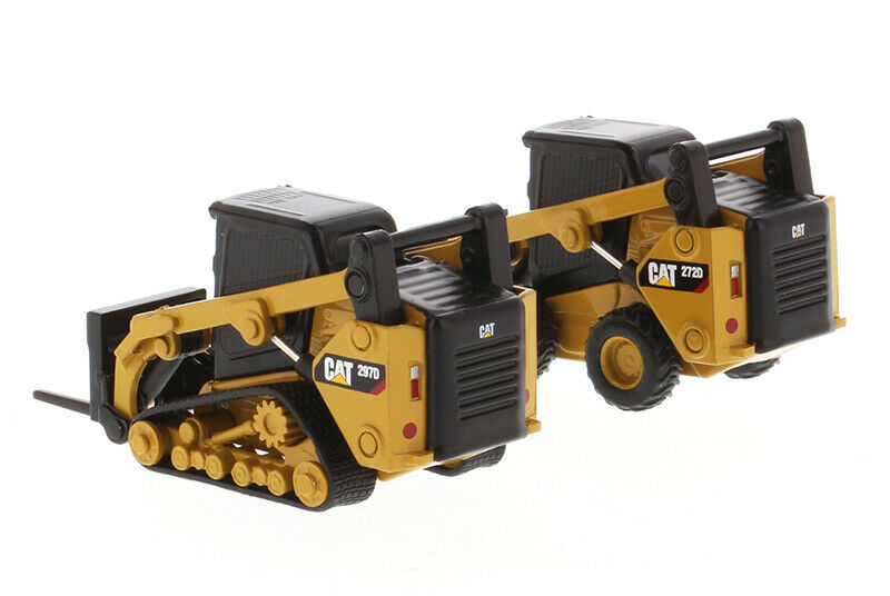 CAT 1:64 Skid Steer Loader /& Compact Track Loader with accessories