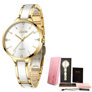 Relogio Feminino SUNKTA Women Watches Waterproof Top Brand Luxury Watch Women With Ceramics And Metal Strap Relojes Para Mujer 7
