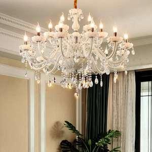 Image 2 - Branco moderno luzes do candelabro de cristal lâmpada lustres para sala estar quarto luminária cristal lustres iluminação