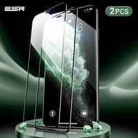 Esr 2 Pcs Protezione Dello Schermo per Il Iphone 11 Pro X Xs Xr Xs Max 3D Copertura Completa Facile da Installare Chiaro premium Protezione in Vetro Temperato