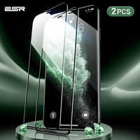 Protection d'écran ESR 2 pièces pour iPhone 11 Pro X XS XR XS Max 3D couverture complète facile à installer