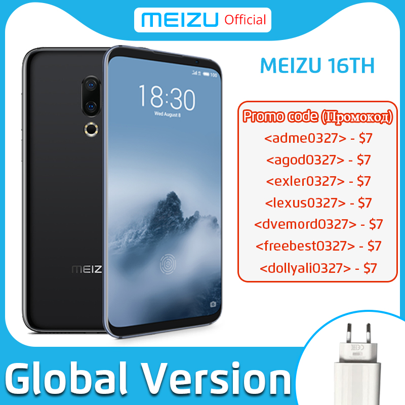 Meizu 16th 8GB 128GB Global Version Mobile Phone Snapdragon 845 Octa Core 16 th Smartphone In-Screen Fingerprint 1