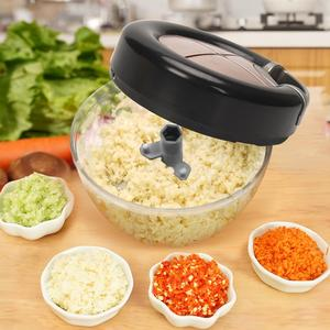 New Manual Food Chopper ABS Stainless Steel String Vegetable Fruits Nuts Onions Mincer Blender Shredder Food Processors