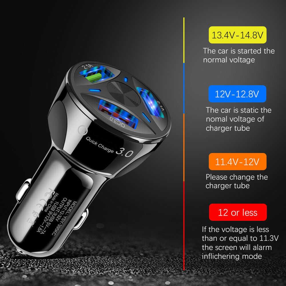جيد 3.1A 2 3 ميناء USB شاحن سيارة شحن سريع 3.0 الهاتف سيارة مهايئ شاحن لسامسونج شاومي آيفون سيارة كبل شحن الهاتف
