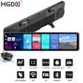 2020 HGDO 12 ''4G Автомобильный видеорегистратор Android 8,1 ADAS камера в зеркале заднего вида FHD 1080P WiFi GPS видеорегистратор 2G + 32G