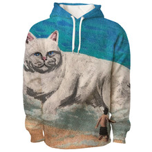 New Style America Rip Cat Funny Superhuman Style Casual Street Fashion Trend Hoodie Big Size Adult Children Can Wear Hoodies