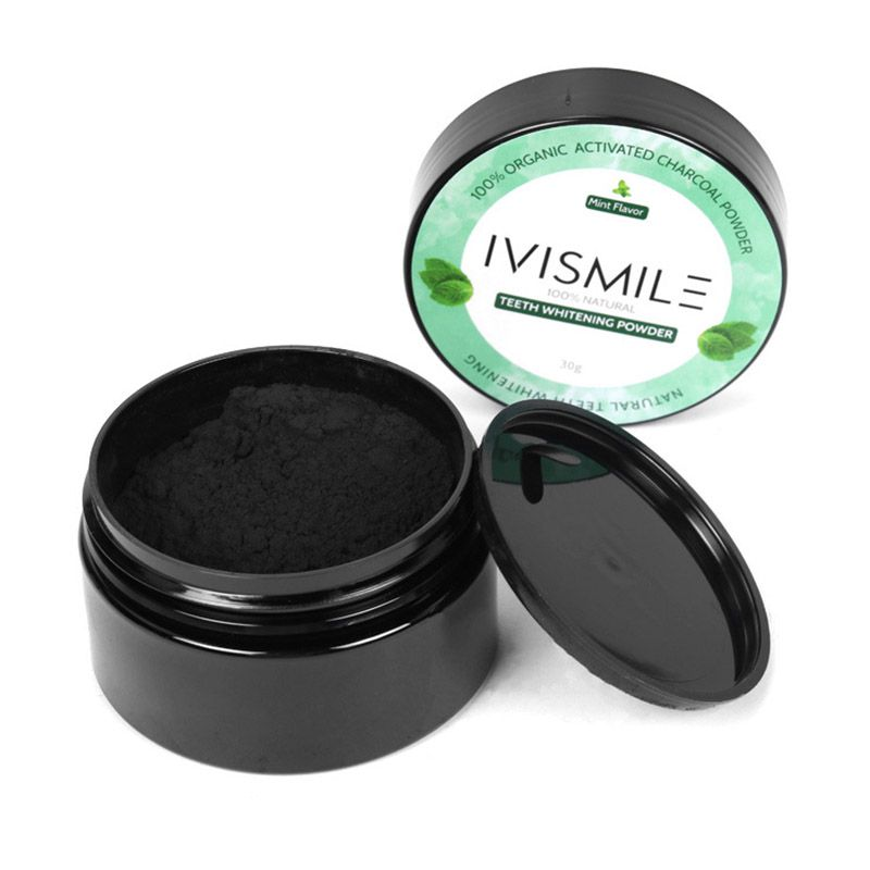 Black Natural Activated Carbon Teeth Whitening Powder Oral Hygiene For Removing Tooth Stains Smoke Stains Tea Stains