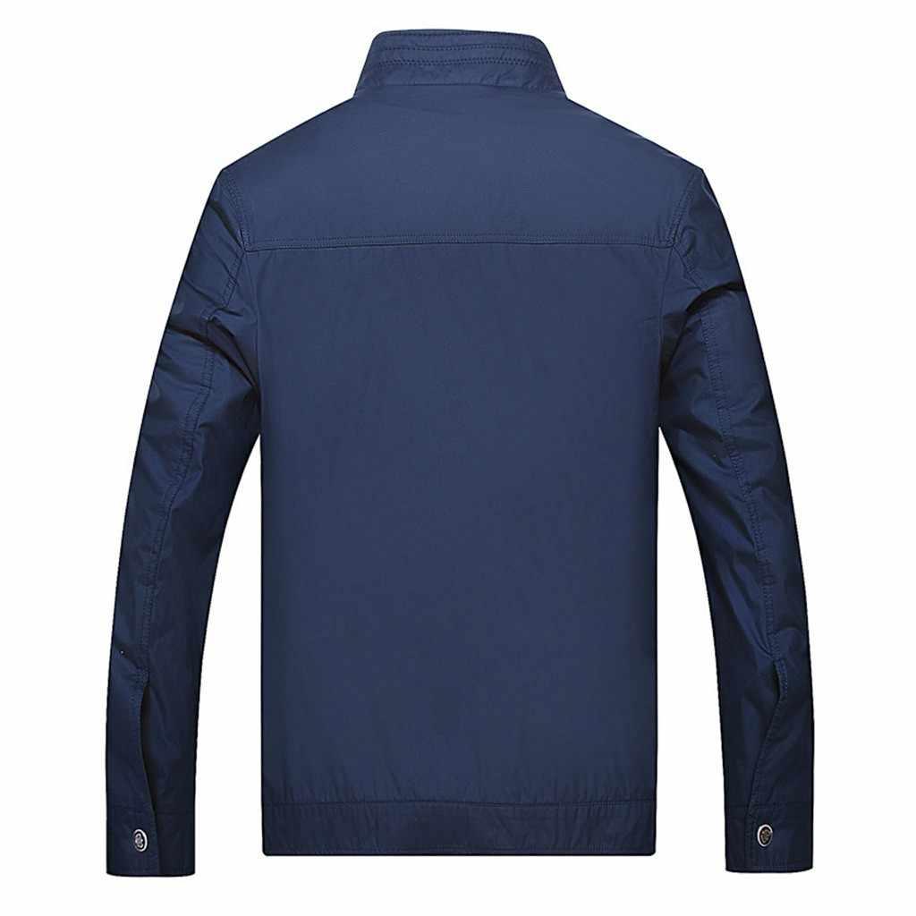 ブランド冬のジャケットメンズ新冬のスタイルのファッションビジネス自己修養純粋なカラーコートスポーツコート高品質スリムトップ