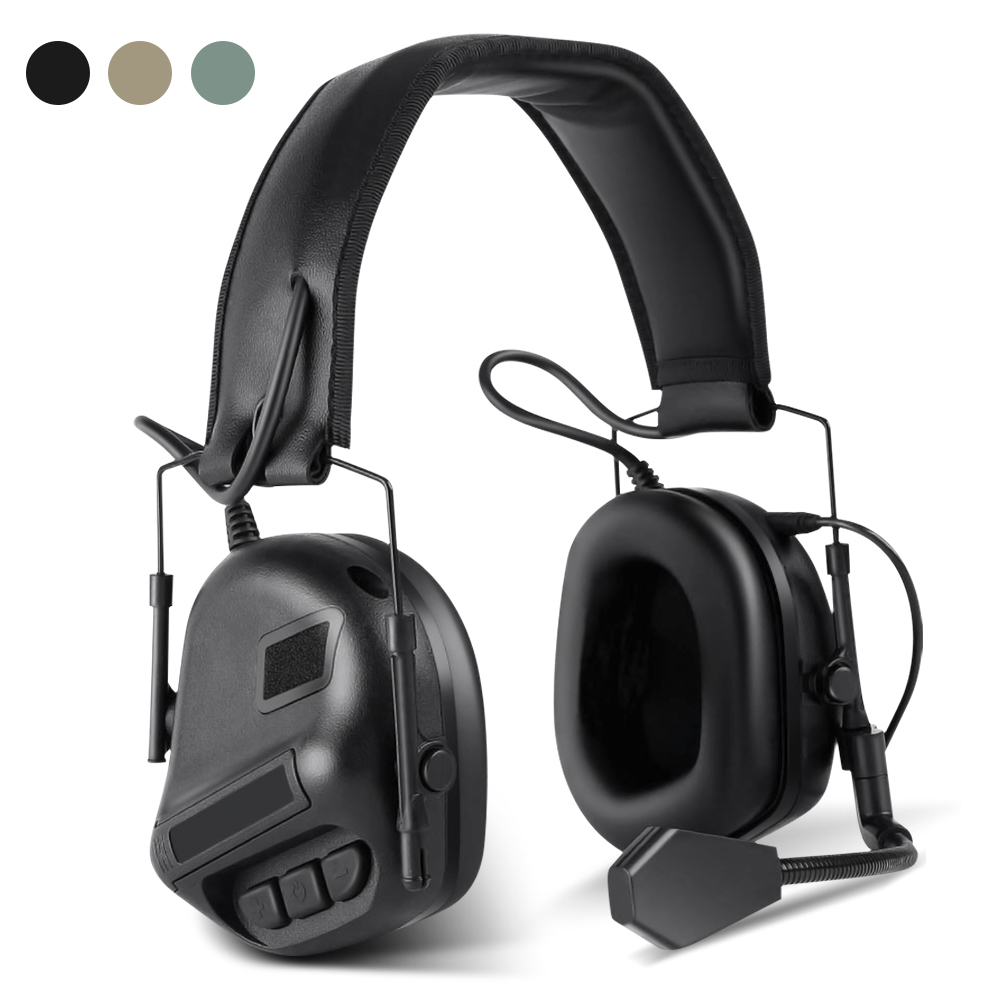 Tactical Headset Electronic Shooting Military Headphone Outdoor Sports Soundproof Earmuff Hearing Protective For Hunting