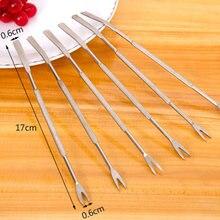 1 pçs 10 ps/lote lagosta caranguejo agulha de aço inoxidável multi função noz agulha frutas garfo cozinha gadgets ferramentas frutos do mar cozinha