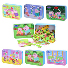 Peppa pig toys wooden puzzles toys cartoon puzzles wooden Jigsaw baby child early educational toys Peppa pig birthday gift peppa pig toys doll train car house scene building blocks action figures toys early learning educational toys birthday gift