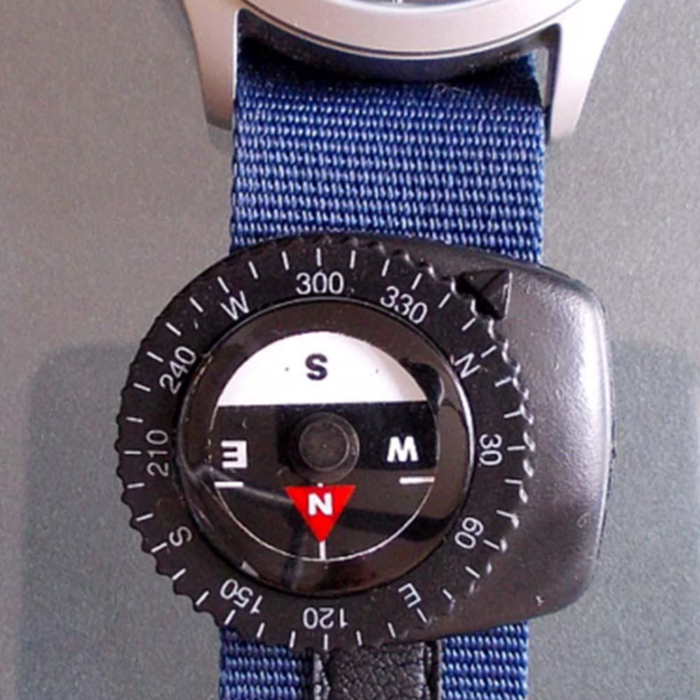 Небольшой заполненный жидкостью клип-на Паракорд Браслет часы ремешок сумка ремешок отсекающие компасы открытый направление Guid инструмен...