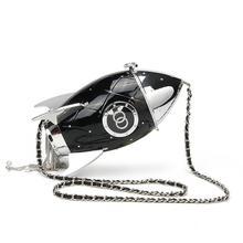 цена на Women Chain Shoulder Bag Personality Fashion Chains Pouch Purse Rocket Style Handbag Crossbody Messenger Bags For Ladies Handbag