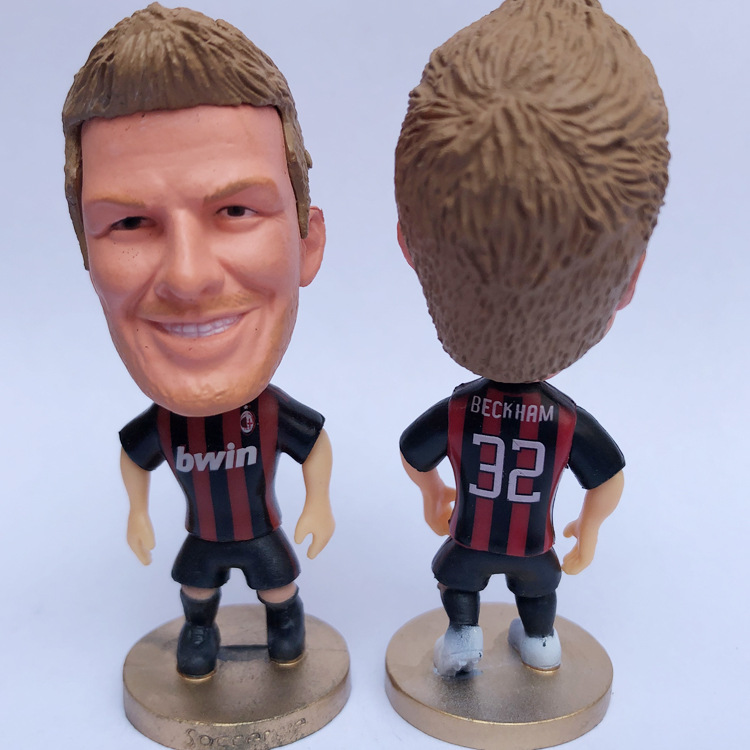 AC Milan Kaka Pirlo Nesta Maldini Inzaghi Football Star Figurine Model Doll Ornaments