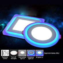 1pcs LED Downlight Round 3W - 18W 3 Model LED Lamp Double Color Panel Light RGB & white Ceiling Recessed with Remote Control dc24v exquisite design 18w rgb full color led panel lighting 300x600mm dream gift for you room ceiling decorating 2pcs lot