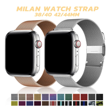 2 pcs strap for apple watch band 44 mm 40mm iwatch band 42mm 38 mm stainless steel bracelet milanese loop apple watch 4 5 3 2 1 Stainless Steel Bracelet for Apple Watch 6 SE 3 Band 38mm 44 mm Milanese Loop for iWatch Series 5 4 2 1 40mm 42mm Bands