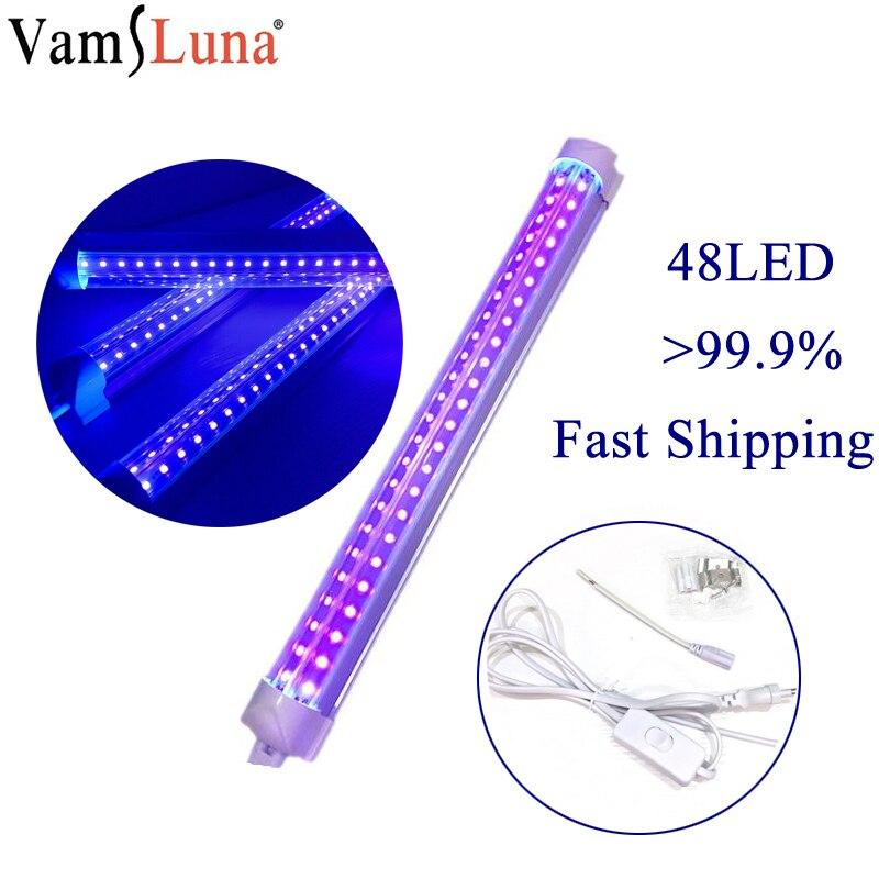 8W UV Light Sterilizer Germicidal Lamp Cellphone LED Sanitizer Disinfection Deodor Tube Virus Germs Mites Eliminator For Toilet