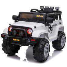 Children's Electric Car Four-wheel Remote Control Car SShock Absorption Electric SUV Can Sit On Baby Toy Car(China)