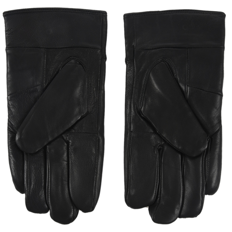 Men's Winter Leather Single Button Driving Gloves