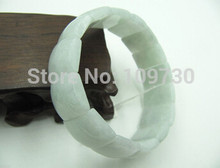 free shipping >>>>>20 Chinese Natural Aqua Jade /Jadeite Charming Long Link Beads Bracelet(China)