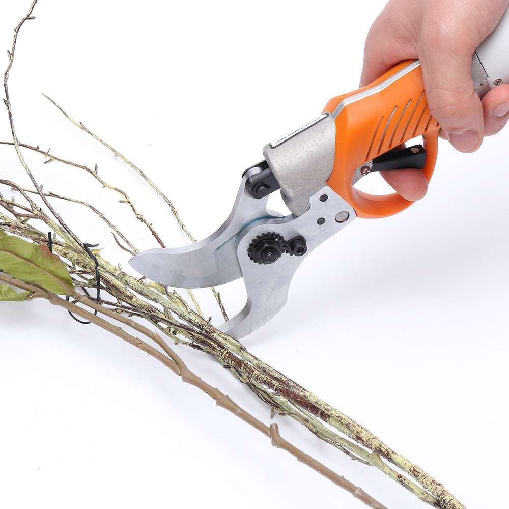 Rechargeable 45mm Electric Garden Scissors for Branches Pruning and Grass Trimming 11