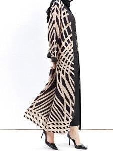 Image 4 - Dubai Open Abaya Muslim Hijab Dress Women Kimono Jubah Kaftan Abayas Turkish Islamic Clothing Caftan Musulman Marocain Long Robe
