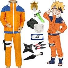 Naruto Shippuden Uzumaki Naruto 1st Cosplay Costume Kids Boy