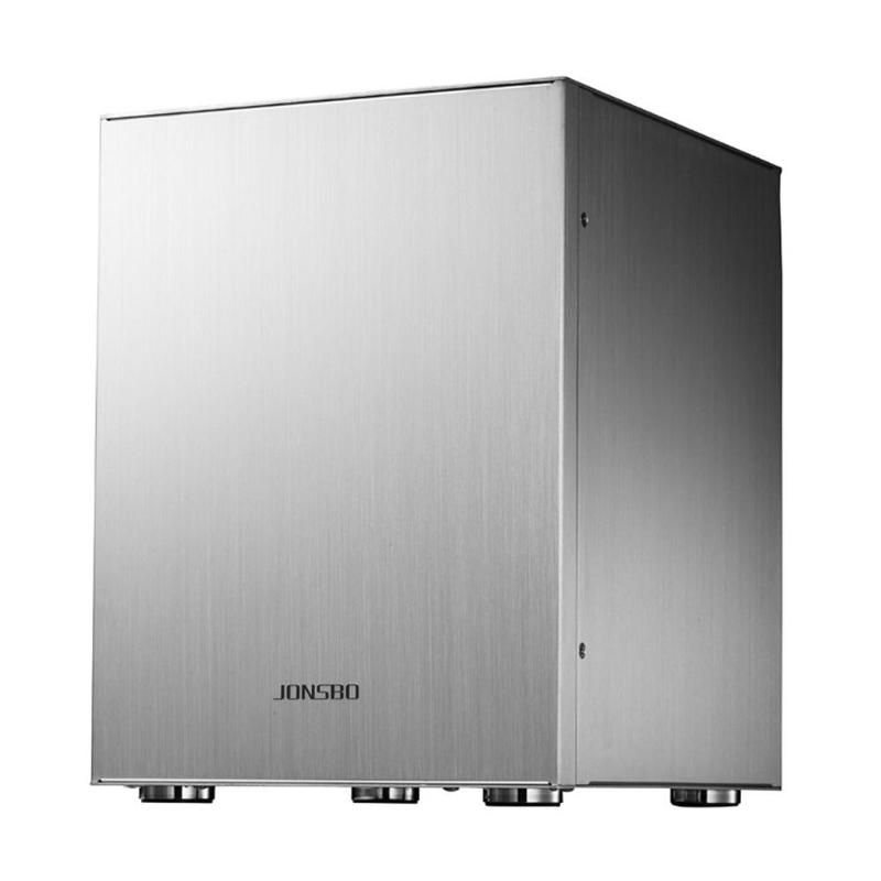 Jonsbo C2 Mini  ITX Case Aluminum Computer Desktop PC Chassis Silver/Black